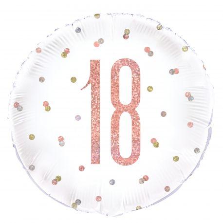 Ballon en aluminium sérigraphié 18 de couleur irisé holographique gold rose , ces ballons sont ultra tendance !Peut être...