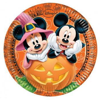 8 Assiettes Mickey halloween
