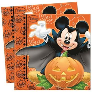20 Serviettes Mickey halloween