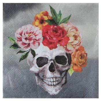 20 serviettes Ethnic skull
