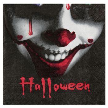 20 serviettes Halloween Clown