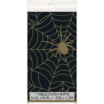 Nappe plastique gold araignée