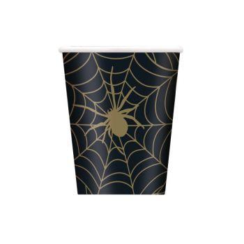 8 Gobelets gold araignée