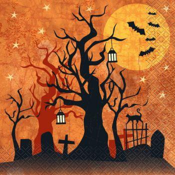 16 Serviettes nuit Halloween
