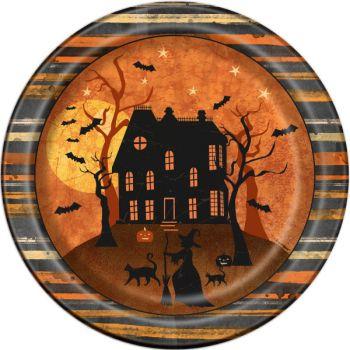 8 Assiettes nuit Halloween