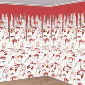 Décors muraux géants empreintes sanglantes
