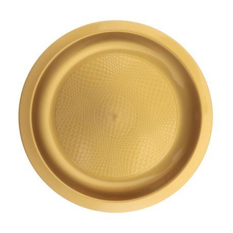 Paquet de 10 assiettes à dessert en plastique ronde jetable de haute qualité incassable et recyclable.Elles ont également l'avantage...
