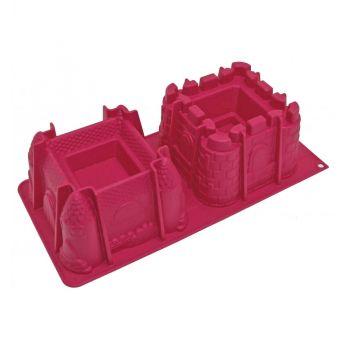 Moule à gâteau 2 châteaux 3D silicone Scrapcooking