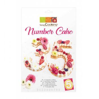 Kit number cake Scrapcooking