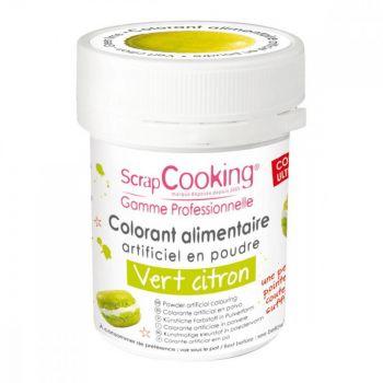 Colorant en poudre vert citron Scrapcooking