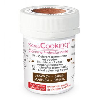 Colorant en poudre marron Scrapcooking