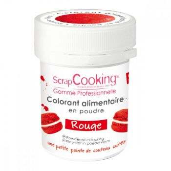 Colorant en poudre rouge Scrapcooking