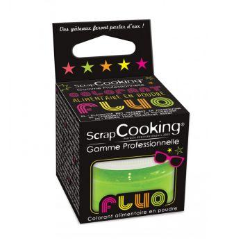Colorant alimentaire en poudre vert fluo Scrapcooking