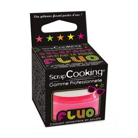 Colorantalimentaireen poudre rose fluo. Colorant très concentré :une pointe de couteau suffit.Colorant puissant en utilisation...