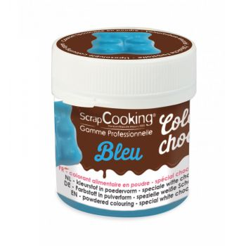 Color choco bleu liposoluble Scrapcooking