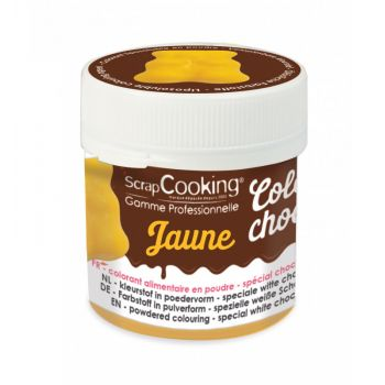 Color choco jaune liposoluble Scrapcooking