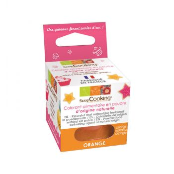 Colorant alimentaire naturel en poudre orange Scrapcooking