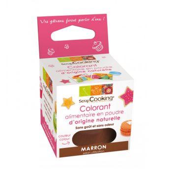 Colorant alimentaire naturel en poudre marron Scrapcooking