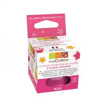 Colorant alimentaire naturel en poudre rose foncé Scrapcooking