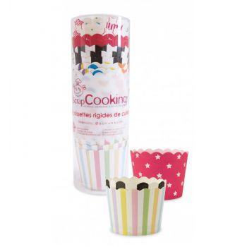 25 caissettes cupcakes assorties rigides Scrapcooking
