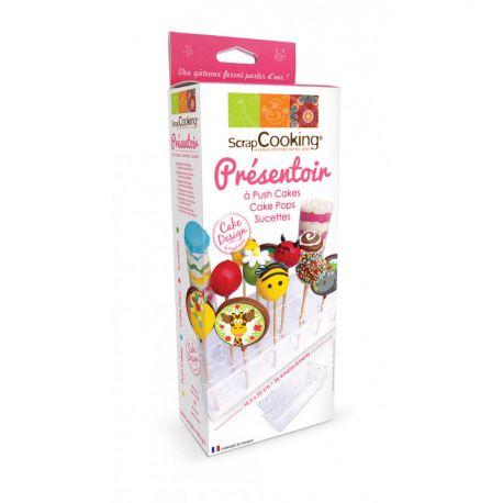 Présentoir pour 26 sucettes et cakepops en plexiglas de la marque scrapcooking apte au contact alimentaire.Dimensions :...
