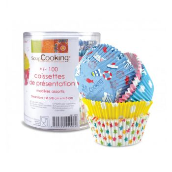 100 caissettes cupcakes assorties Scrapcooking