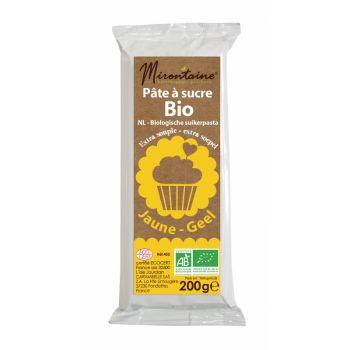 Pâte à sucre BIO jaune Mirontaine 200gr