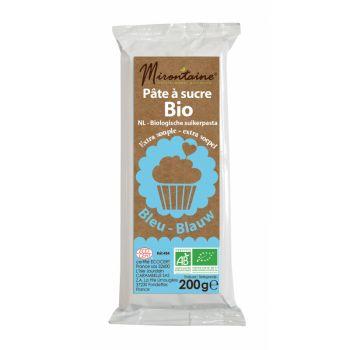Pâte à sucre BIO bleu Mirontaine 200gr