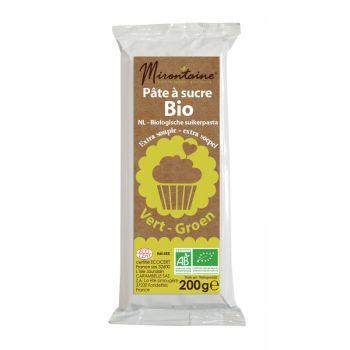 Pâte à sucre BIO verte Mirontaine 200gr