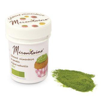 Colorant alimentaire bio en poudre vert Mirontaine