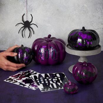 9 Planches de stickers pour citrouille Halloween