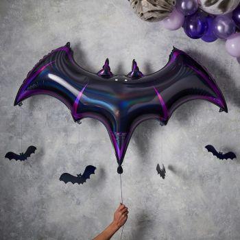 Ballons helium chauve souris maison hanté