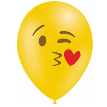10 Ballons Emoticones bisou