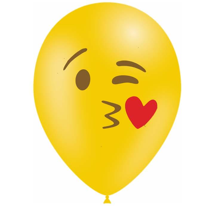 10 Ballons Emoticones Bisou Deco Anniversaire