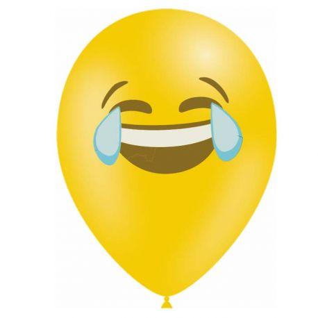 10 Ballons en latex biodégradable Emoticones LOL pour une belle décoration de fête d'anniversaireContenance en Gaz : 0.016...