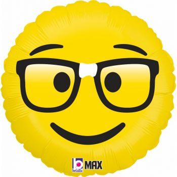 Ballon helium Emoticones geek