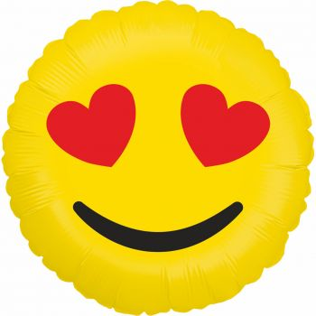Ballon helium Emoticones love