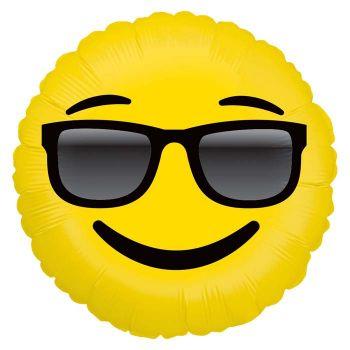 Ballon helium Emoticones lunette soleil