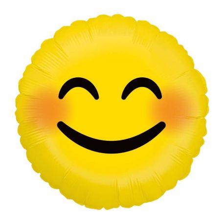 Ballon rond helium en aluminium Emoticones smile pour une belle décoration d'anniversaireA gonfler avec ou sans héliumDimensions...