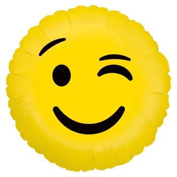 Ballon helium Emoticones clin d'oeil