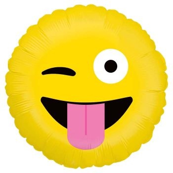 Ballon helium Emoticones crazy