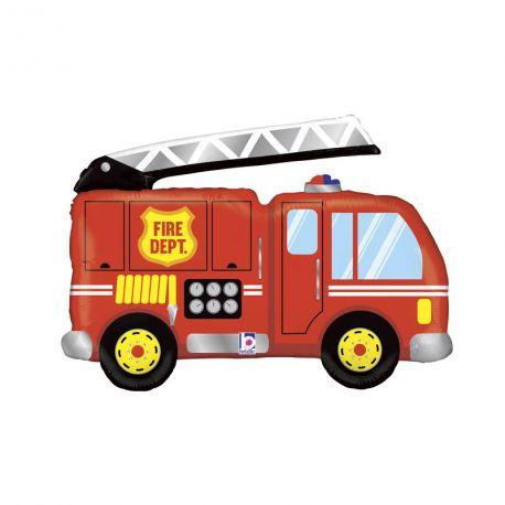 Ballon helium géant en aluminium camion de pompier pour une belle décoration d'anniversaireA gonfler avec ou sans...