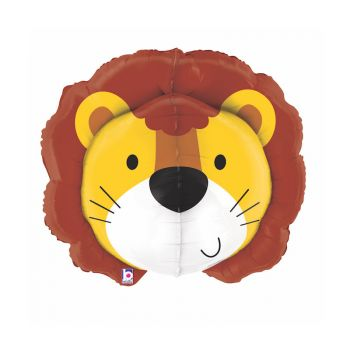 Ballon helium 3D tête de lion