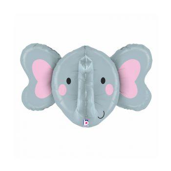 Ballon helium 3D tête d'éléphant