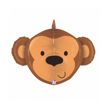 Ballon helium 3D tête de singe