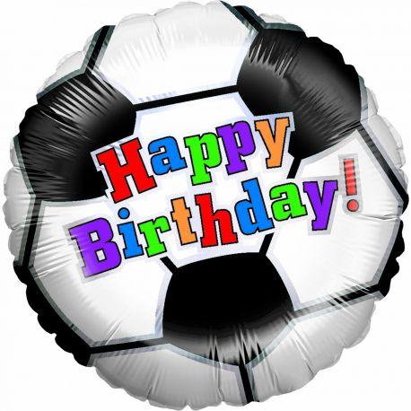 Superbe ballon géant en forme de ballon de foot avec inscription Happy Birthday pour une belle décoration d'anniversaireBallon en...