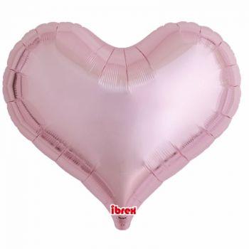 Ballon helium coeur rose