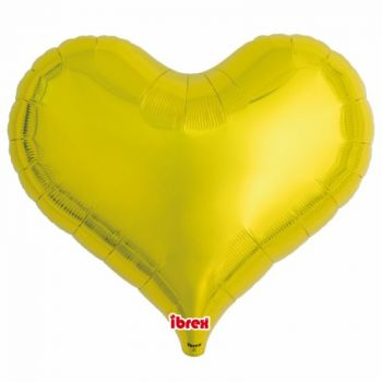 Ballon helium coeur or