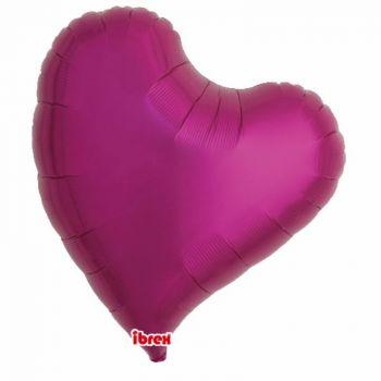 Ballon helium coeur design fuchsia 63cm