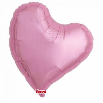 Ballon helium coeur design rose 63cm